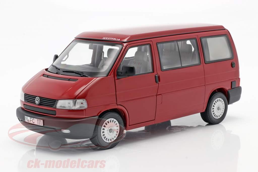 Volkswagen VW T4b Westfalia camper rosso 1:18 Schuco