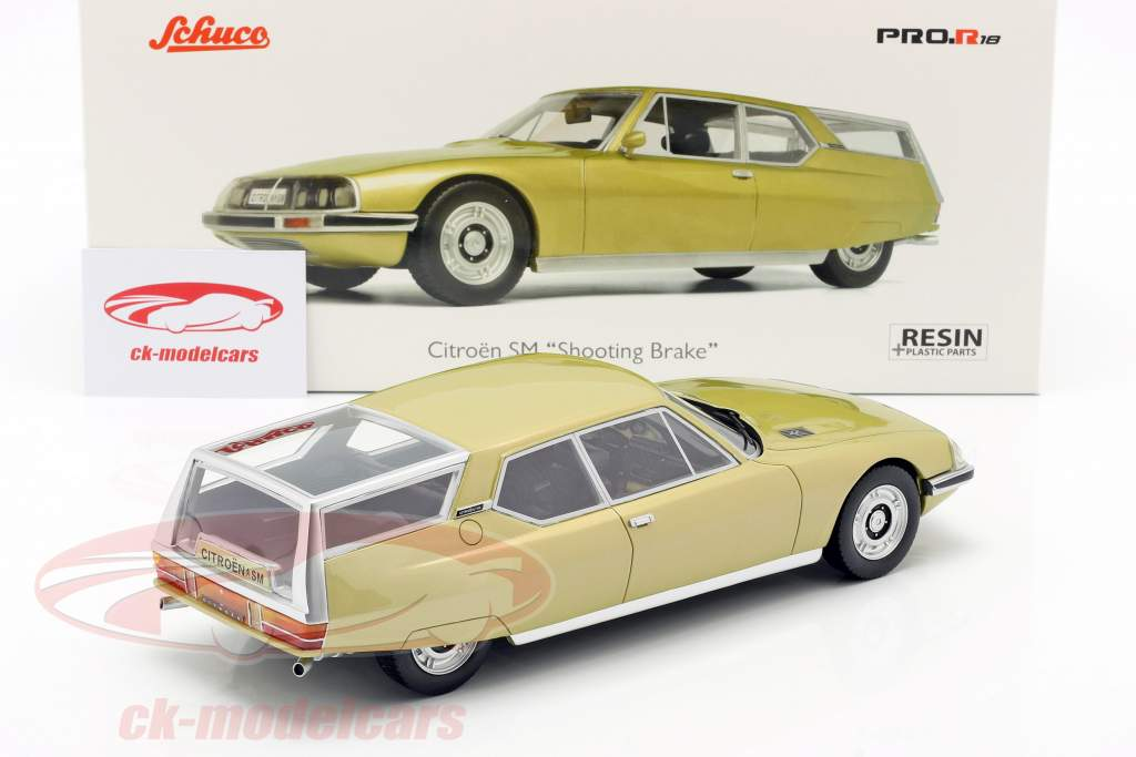 Citroen SM Shooting Brake Baujhar 1970-1975 gold metallic 1:18 Schuco