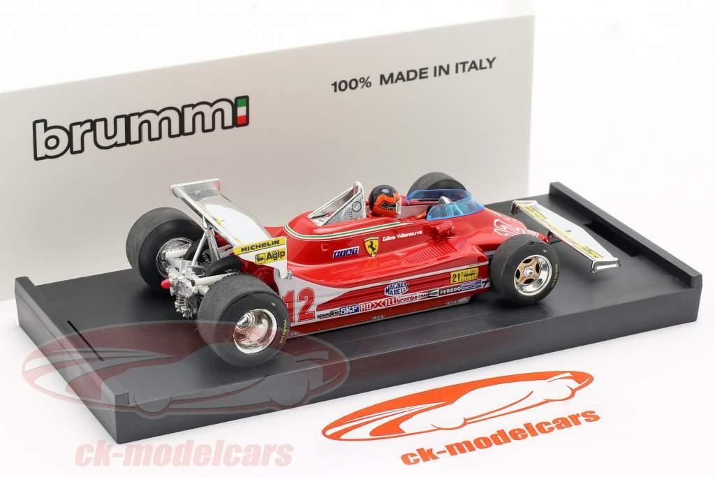 G. Villeneuve Ferrari 312 T4 teste do carro #12 Vencedor do GP EUA Ocidente F1 1979 1:43 Brumm