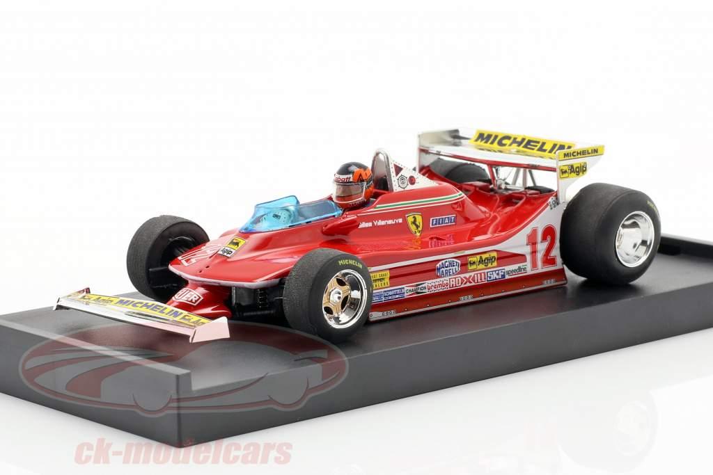 G. Villeneuve Ferrari 312 T4 Test Car #12 Winner GP USA West F1 1979 1:43 Brumm