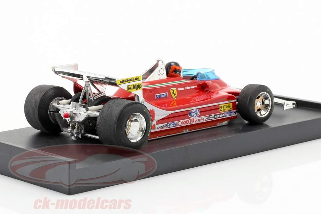 G. Villeneuve Ferrari 312 T4 test auto #12 Winner GP Stati Uniti West F1 1979 1:43 Brumm