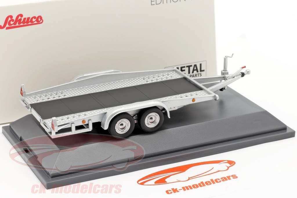 Car trailer sølv 1:43 Schuco