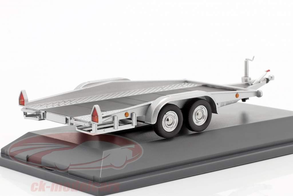 Car trailer silver 1:43 Schuco