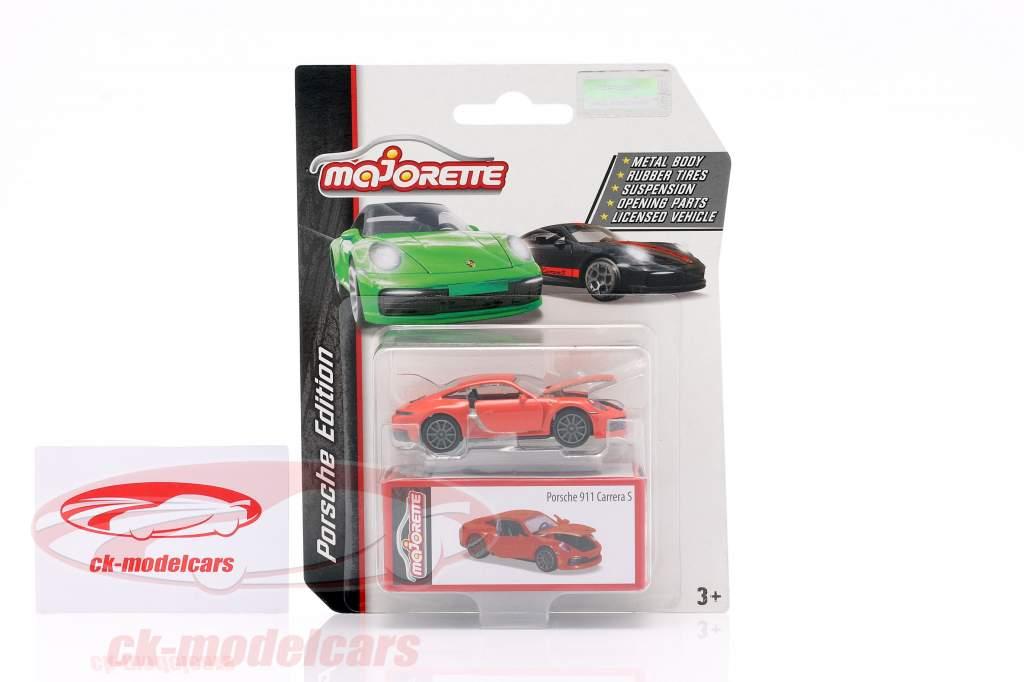 Porsche 911 Carrera S naranja 1:64 Majorette