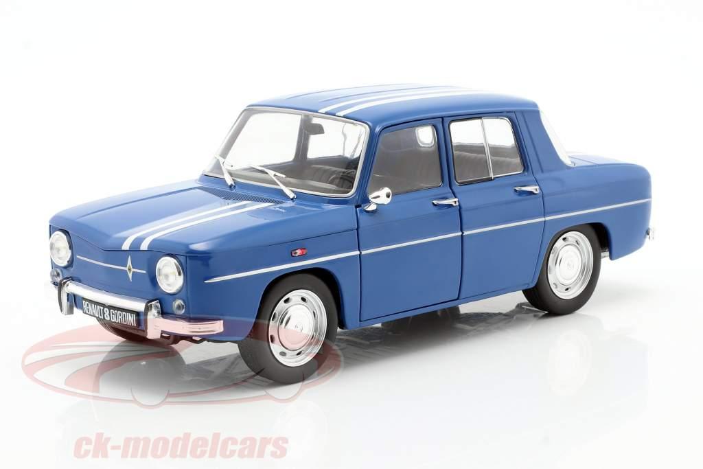 Renault 8 Gordini 1100 Bouwjaar 1967 blauw 1:18 Solido