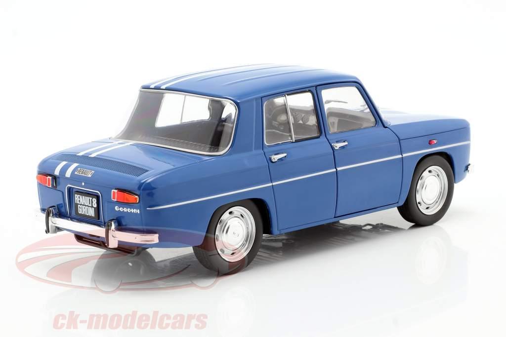 Renault 8 Gordini 1100 year 1967 blue 1:18 Solido