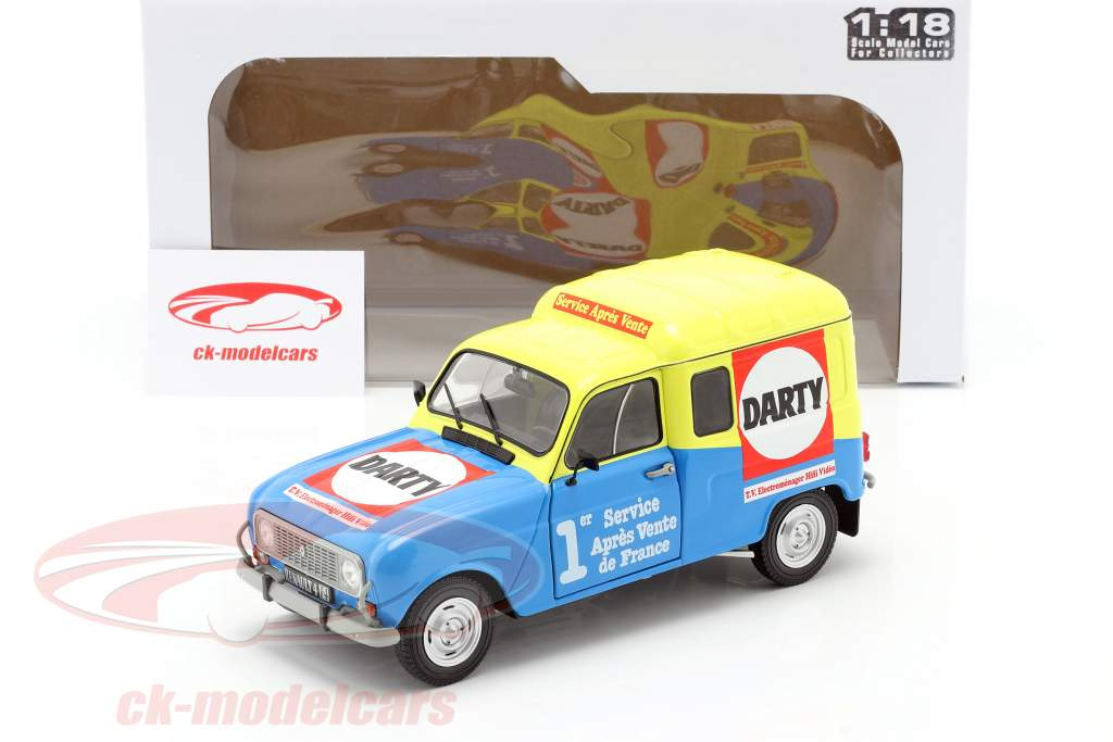 Renault 4 F4 Darty year 1988 blue / yellow 1:18 Solido