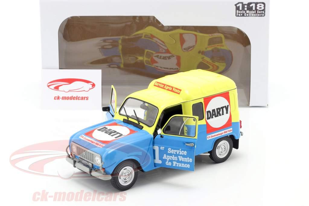 Renault 4 F4 Darty Ano de construção 1988 azul / amarelo 1:18 Solido