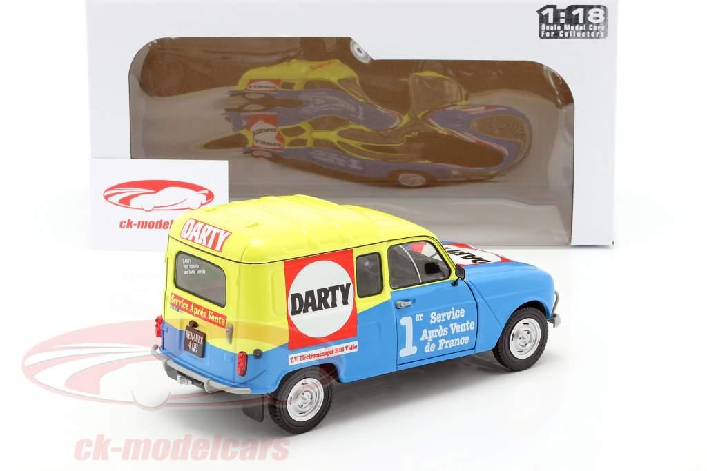 Renault 4 F4 Darty Anno di costruzione 1988 blu / giallo 1:18 Solido