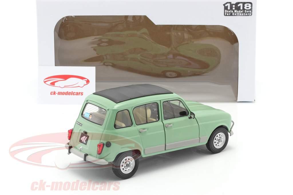 Renault 4L GTL Ano de construção 1978 celadon verde 1:18 Solido
