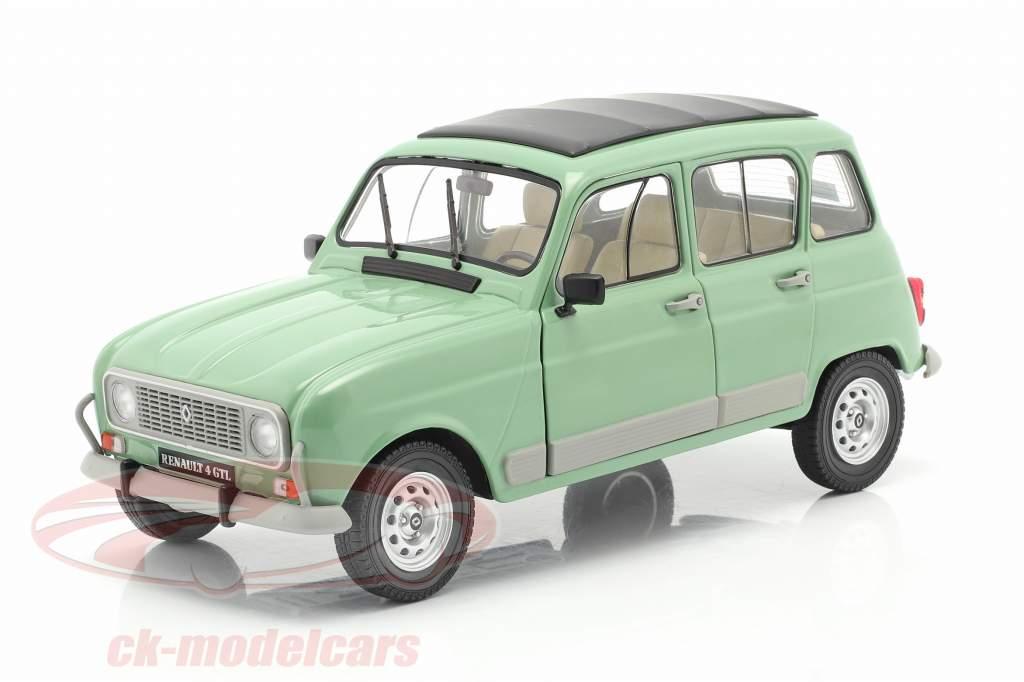 Renault 4L GTL year 1978 celadon green 1:18 Solido