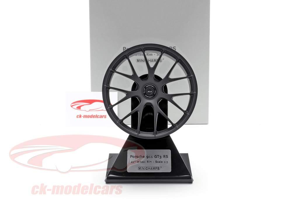 Porsche 911 GT3 RS 2020 Cerchio in magnesio 21 inch raso nero 1:5 Minichamps
