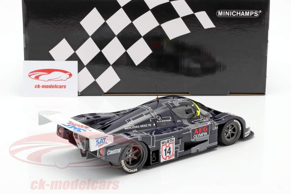Sauber-Mercedes C9 #14 Winnaar Supercup 1988 J.-L. Schlesser 1:18 Minichamps