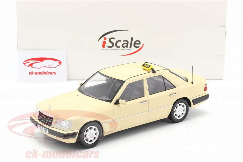 Mercedes-Benz E klasse (W124) Bouwjaar 1989 taxi 1:18 iScale