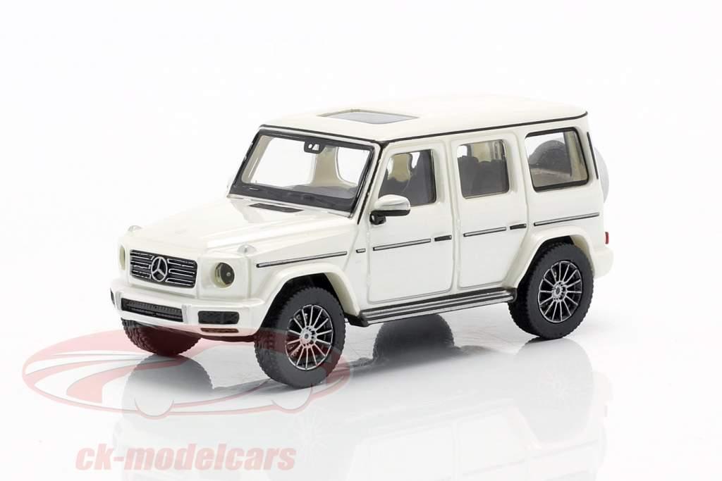Mercedes-Benz Clase G (W463) Año de construcción 2018 Blanco metálico 1:87 Minichamps