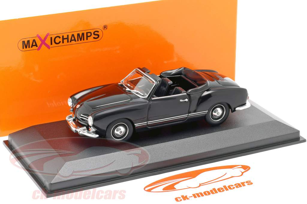 Minichamps 1 43 Volkswagen Vw Karmann Ghia Cabriolet 1955 Black 940051030 Model Car 940051030 4012138153530