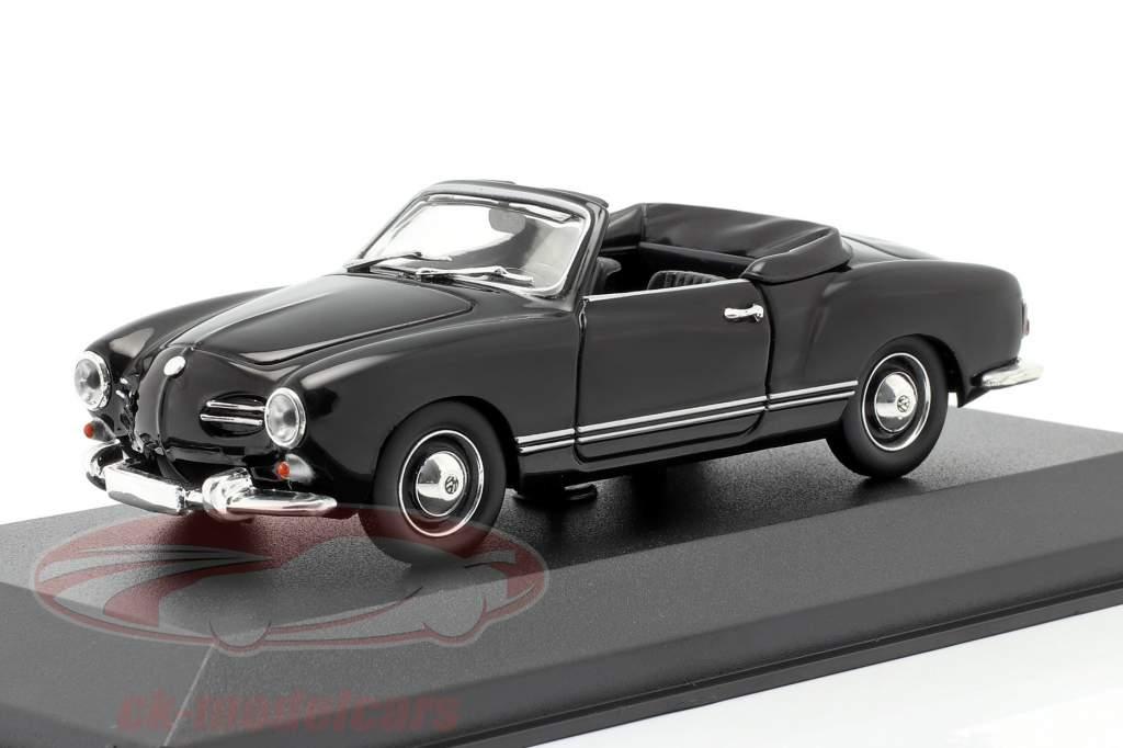 Volkswagen VW Karmann Ghia Cabriolet 1955 sort 1:43 Minichamps