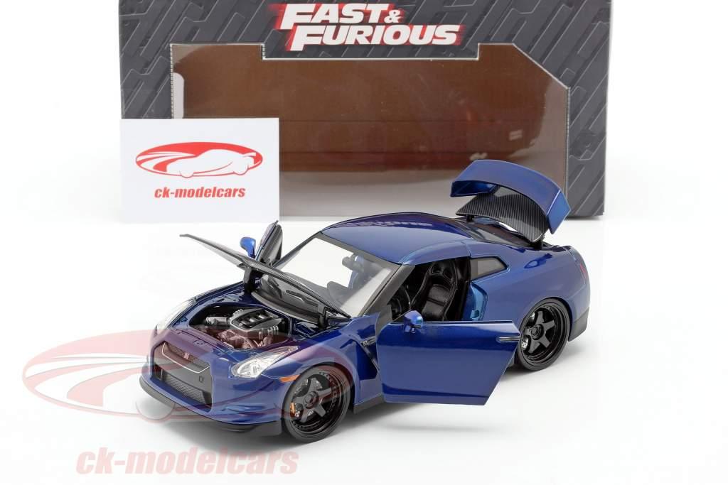 Nissan GT-R (R35) 年 2009 Fast and Furious 7 2015 ダークブルー 1:24 Jada Toys