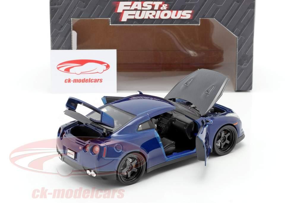 Nissan GT-R (R35) Année 2009 Fast and Furious 7 2015 bleu foncé 1:24 Jada Toys