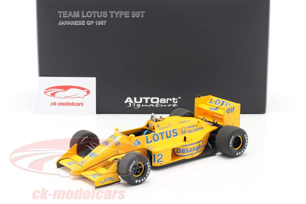Ayrton Senna Lotus 99T #12 2e Japon GP formule 1 1987 1:18 AUTOart