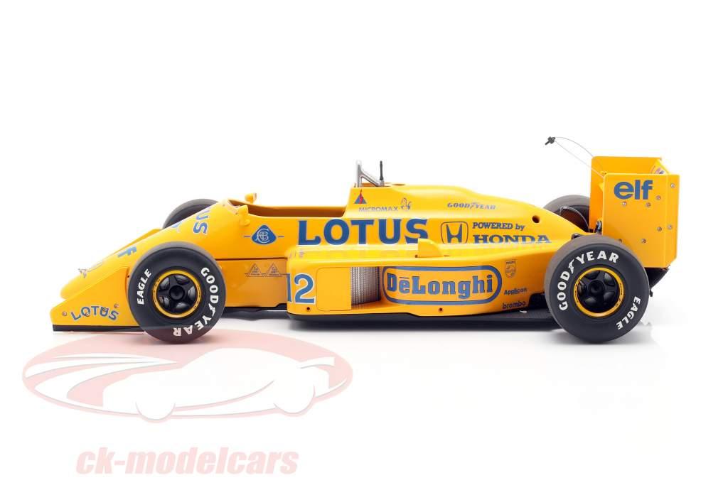 Ayrton Senna Lotus 99T #12 2nd Japan GP formel 1 1987 1:18 AUTOart