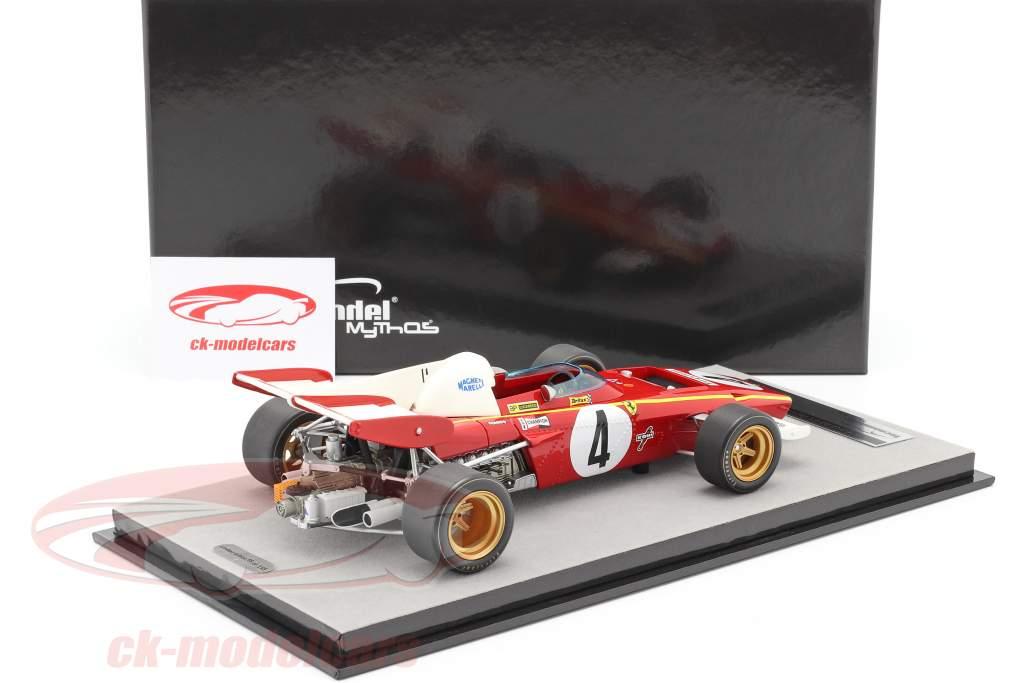 Jacky Ickx Ferrari 312B2 #4 3 ° Monaco GP formula 1 1971 1:18 Tecnomodel