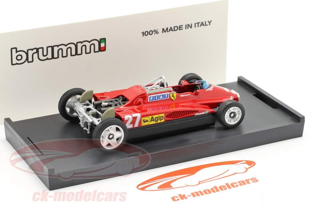 Gilles Villeneuve Ferrari 126C2 #27 Vervoer Versie 1:43 Brumm