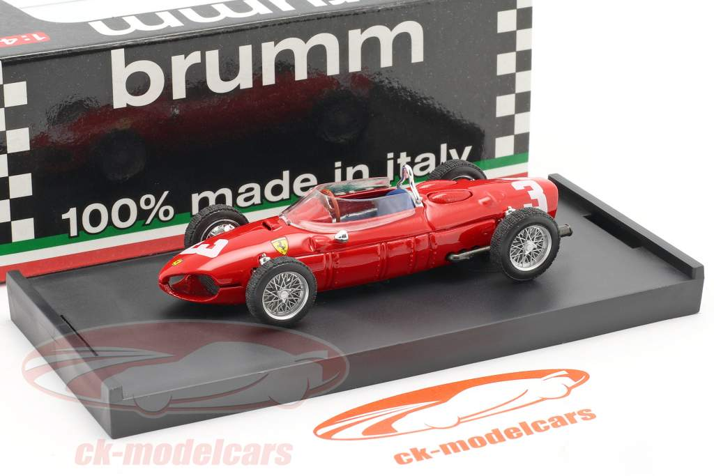 W. von Trips Ferrari 156 #3 Pays-Bas GP formule 1 1961 1:43 Brumm