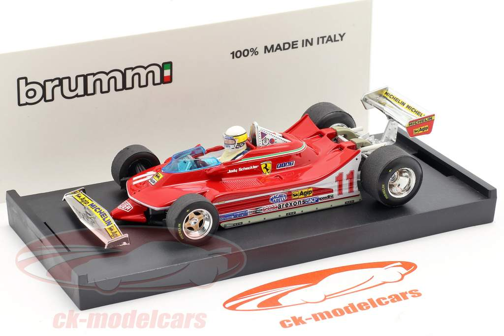 J. Scheckter Ferrari 312 T4 #11 Campione del Mondo GP Italia Formula 1 1979 1:43 Brumm