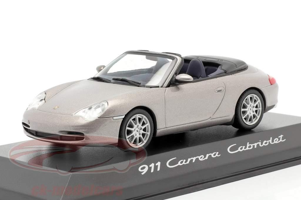 Porsche 911 (996) Carrera Cabriolet cinzento 1:43 Minichamps