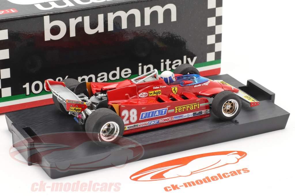 D. Pironi Ferrari 126CK Tubro COMPREX EE.UU. GP Formula 1 1981 1:43 Brumm