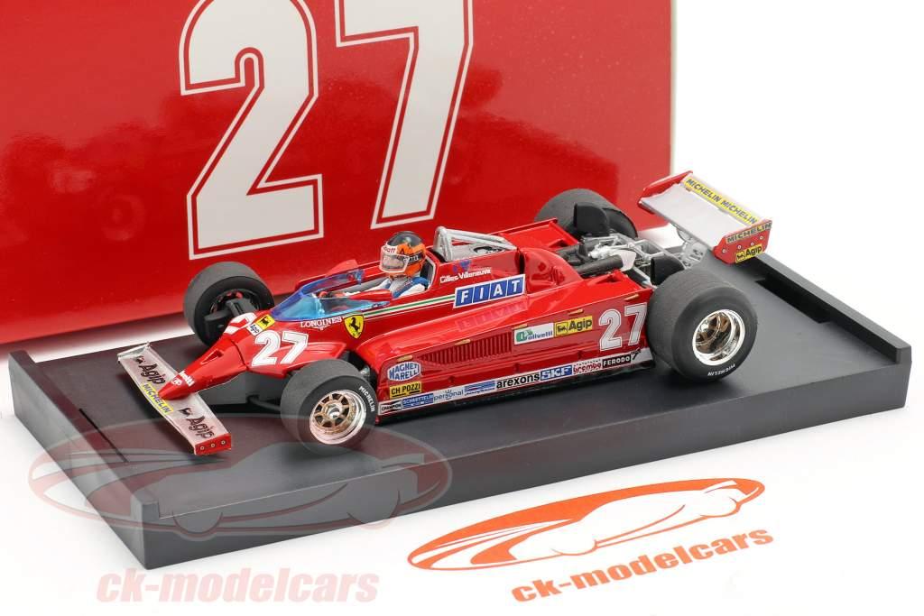 G. Villeneuve Ferrari 126CK #27 GP de Mónaco de Fórmula 1 1981 1:43 Brumm