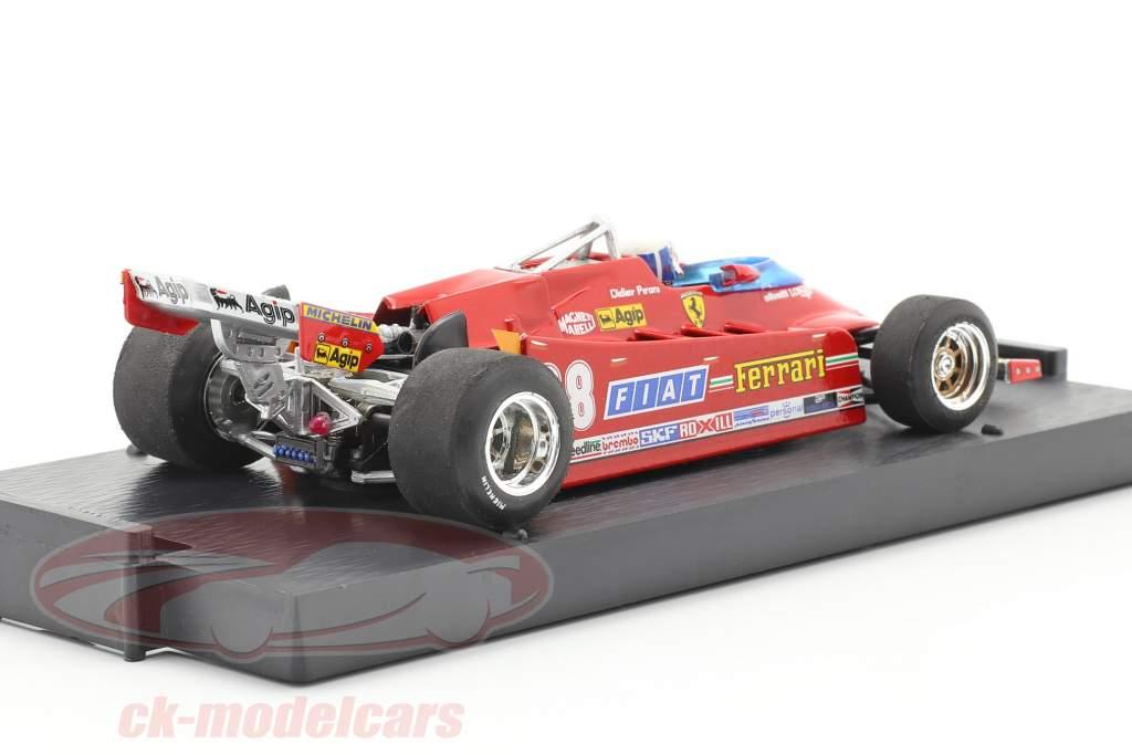 D. Pironi Ferrari 126CK Tubro COMPREX EUA GP de Fórmula 1 1981 1:43 Brumm