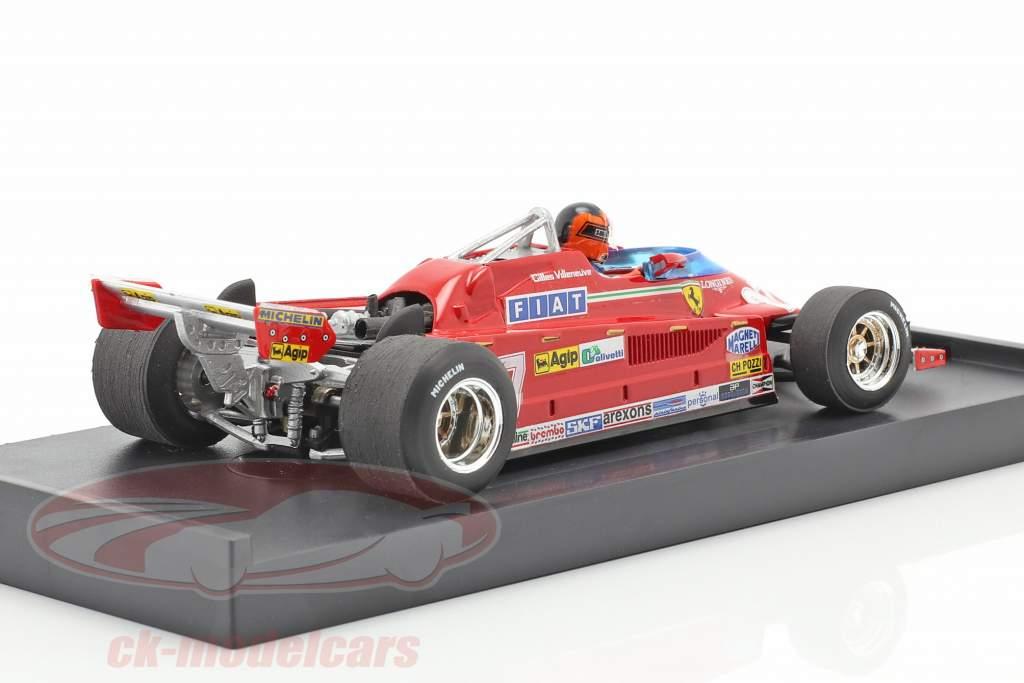 G. Villeneuve Ferrari 126CK #27 GP van Monaco Formule 1 1981 1:43 Brumm