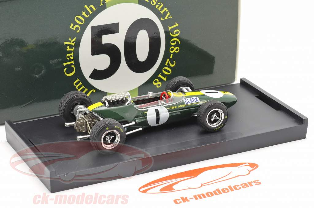 Jim Clark Lotus 33 #1 campeão do mundo Alemanha GP fórmula 1 1965 1:43 Brumm