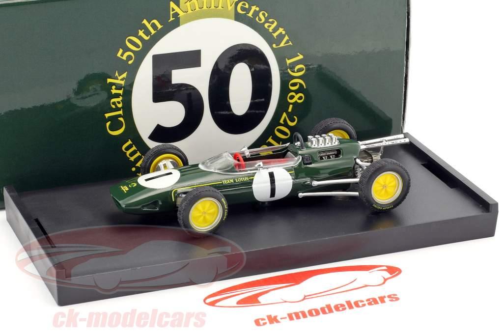Jim Clark Lotus 25 #1 vencedor belga GP campeão do mundo fórmula 1 1963 1:43 Brumm
