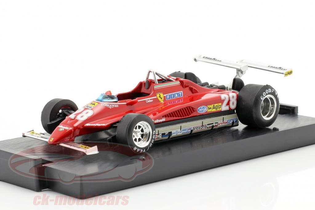 Didier Pironi Ferrari 126C2 #28 Winner USA GP Long Beach Formel 1 1982 1:43 Brumm