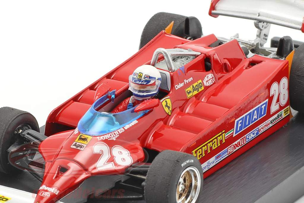 D. Pironi Ferrari 126CK Tubro COMPREX USA GP de Formule 1 1981 1:43 Brumm