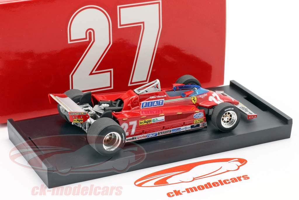 Gilles Villeneuve Ferrari 126CK #27 Winner Monaco GP formula 1 1981 1:43 Brumm