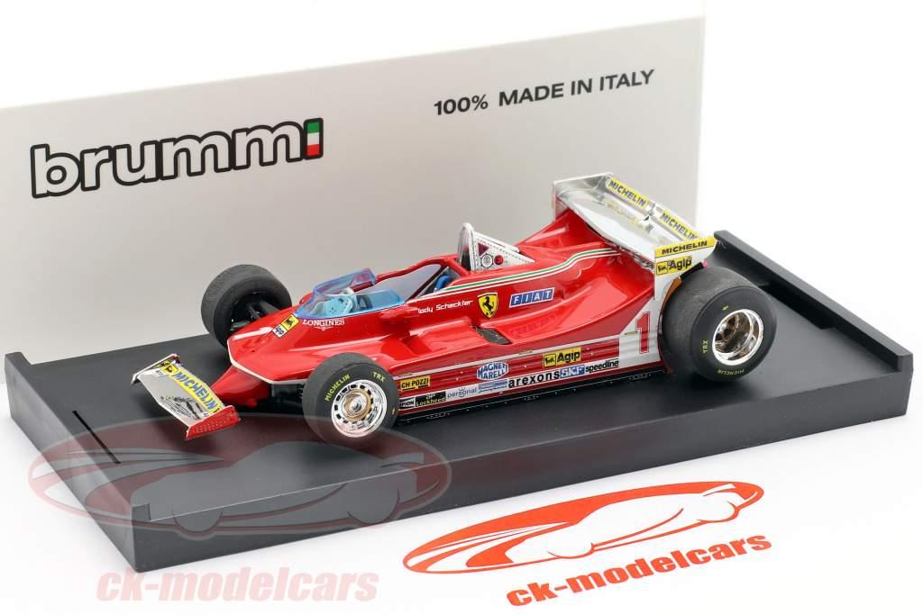 Jody Scheckter Ferrari 312T5 #1 Monaco GP Formel 1 1980 1:43 Brumm