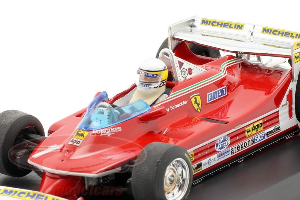 Jody Scheckter Ferrari 312T5 #1 Monaco GP Fórmula 1 1980 com Fahrerfigur 1:43 Brumm
