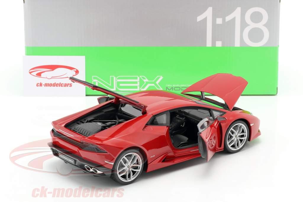 Lamborghini Huracan LP 610-4 År 2015 rød 1:18 Welly