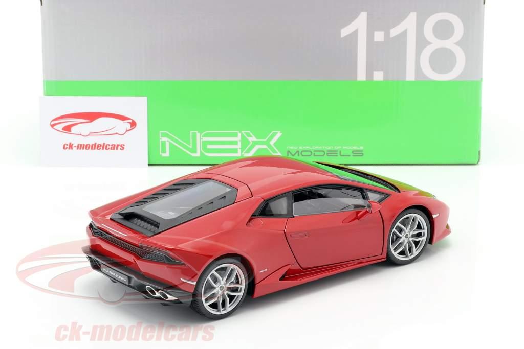 Lamborghini Huracan LP 610-4 Ano 2015 vermelho 1:18 Welly
