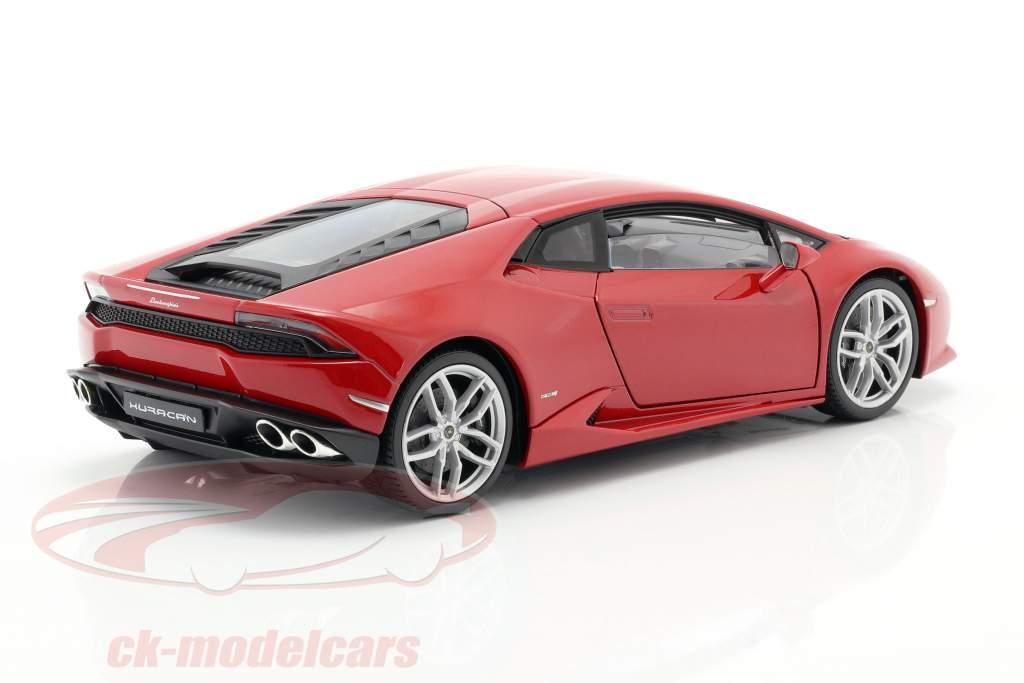 Lamborghini Huracan LP 610-4 Jaar 2015 rood 1:18 Welly
