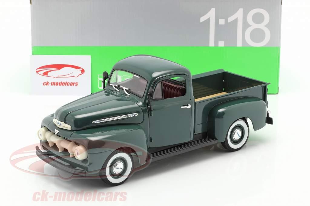 Welly NEX Miniature 1951 Green Ford F1 Pickup Truck Diecast