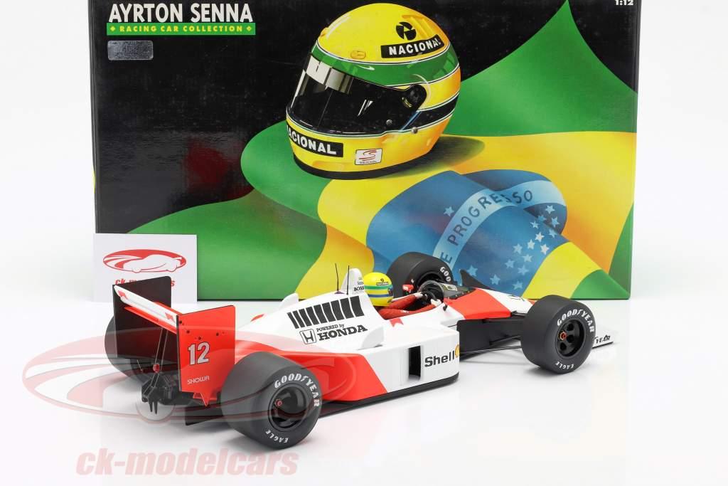 Ayrton Senna McLaren MP4/4 #12 Verdensmester formel 1 1988 1:12 Minichamps
