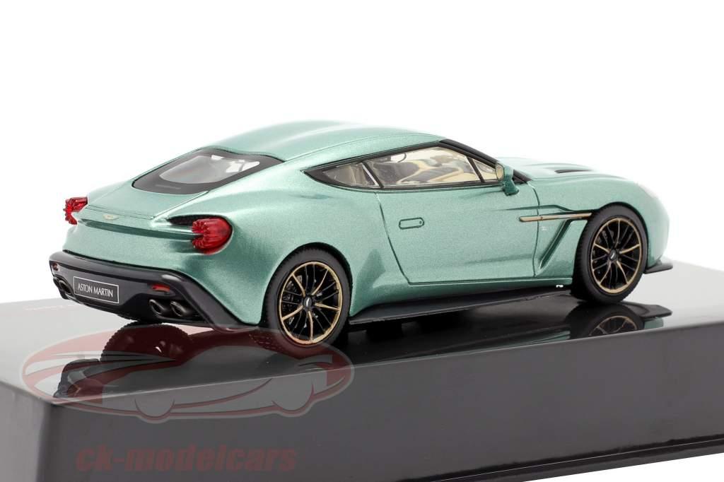 Aston Martin V12 Vanquish Zagato Año de construcción 2016 verde metálico 1:43 Ixo
