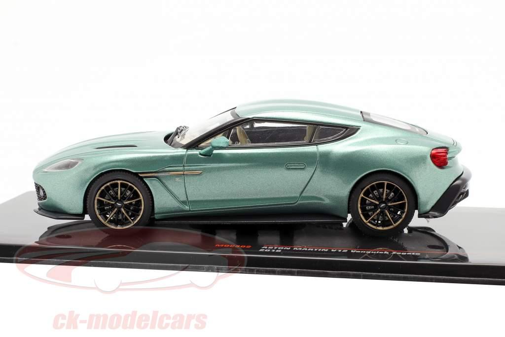 Aston Martin V12 Vanquish Zagato Byggeår 2016 grøn metallisk 1:43 Ixo