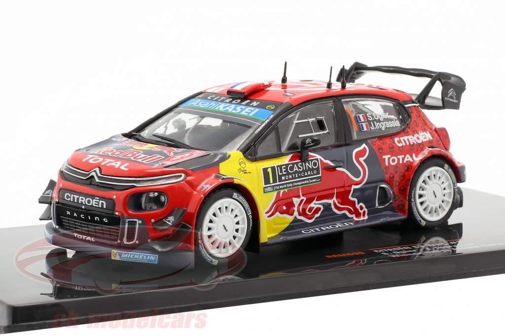 Citroen C3 WRC #1 vincitore Rallye Monte Carlo 2019 Ogier, Ingrassia 1:43 Ixo