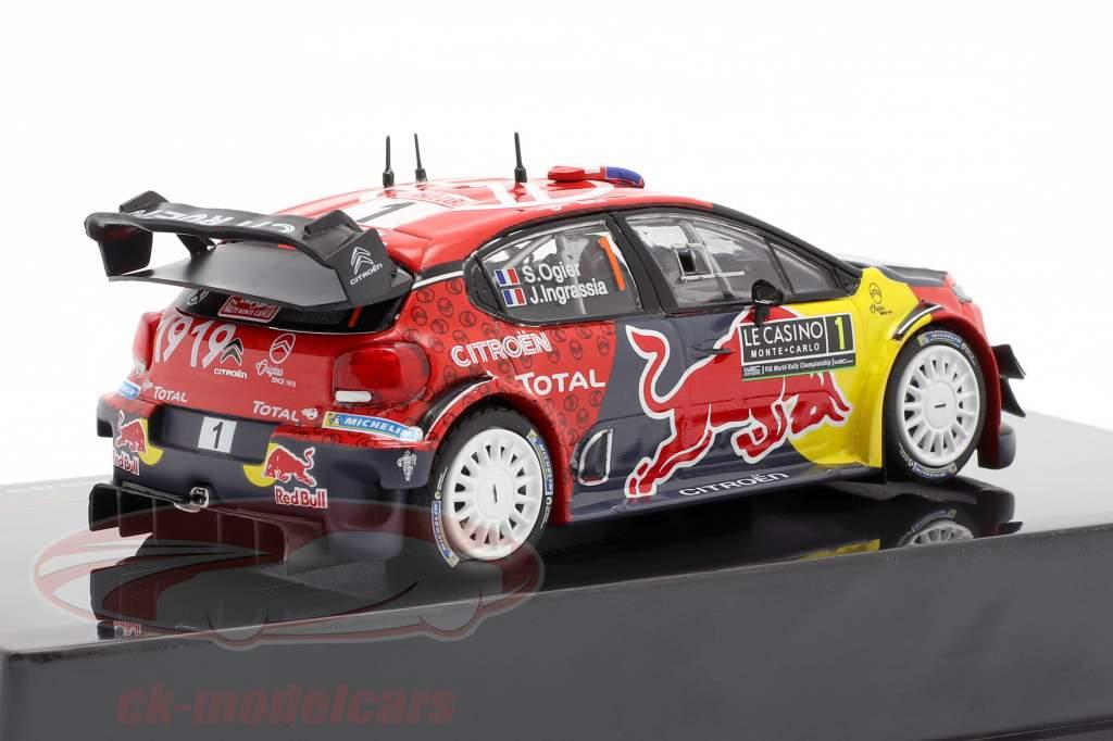 Citroen C3 WRC #1 vencedora Rallye Monte Carlo 2019 Ogier, Ingrassia 1:43 Ixo